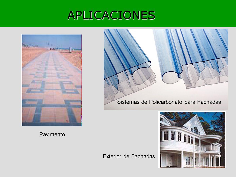 APLICACIONES Sistemas de Policarbonato para Fachadas Pavimento