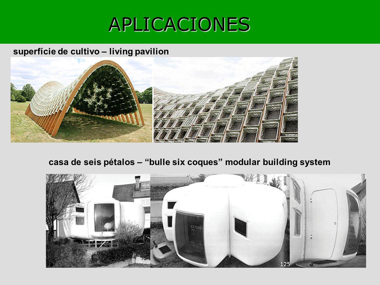 APLICACIONES superfície de cultivo – living pavilion