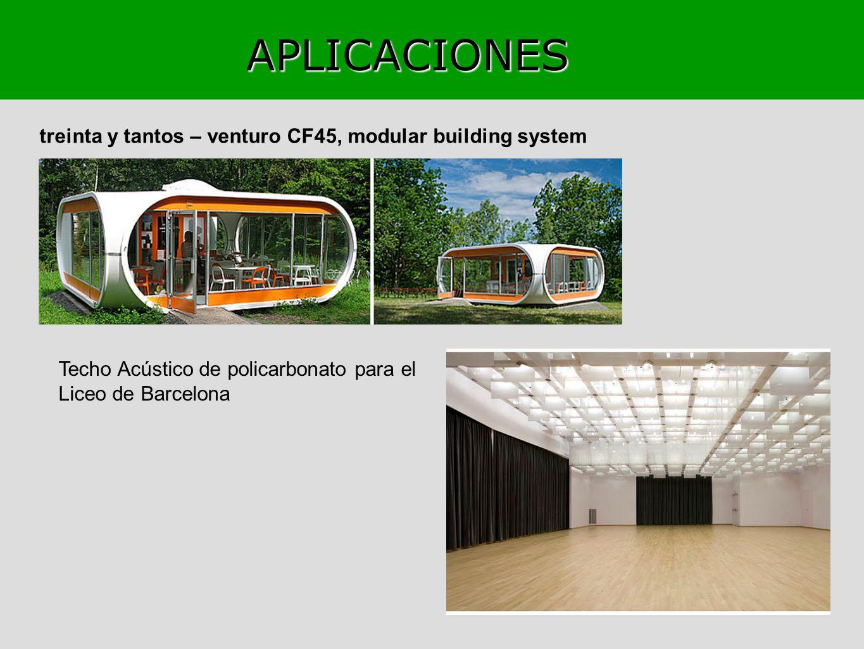 APLICACIONES treinta y tantos – venturo CF45, modular building system