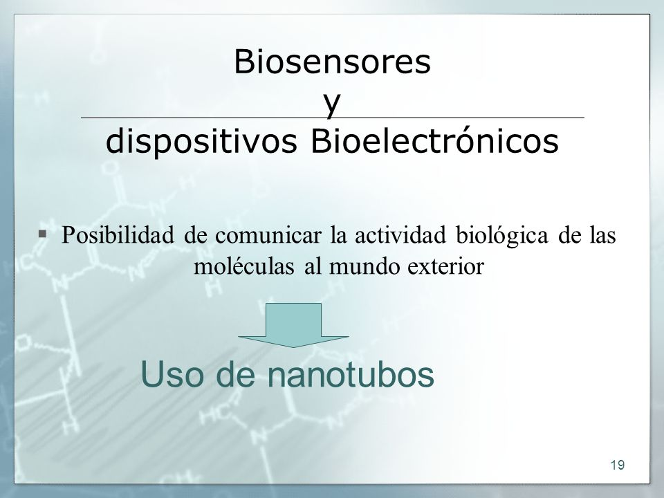 Biosensores y dispositivos Bioelectrónicos