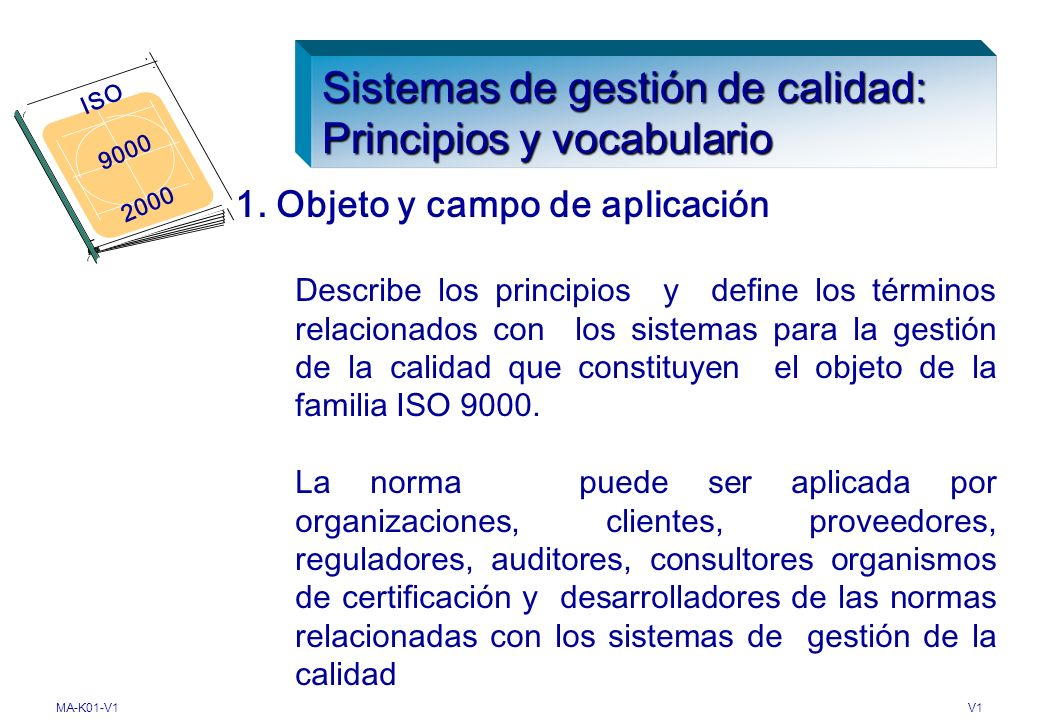 Sistemas de gestión de calidad: Principios y vocabulario