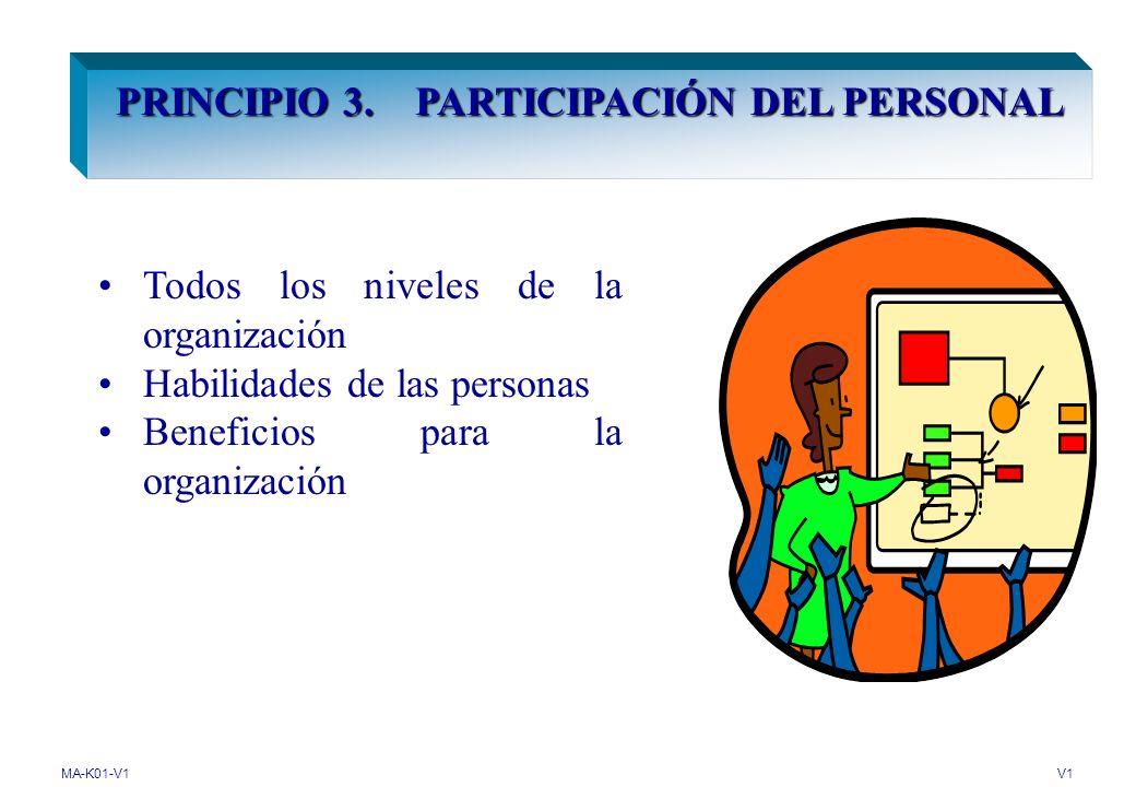 PRINCIPIO 3. PARTICIPACIÓN DEL PERSONAL