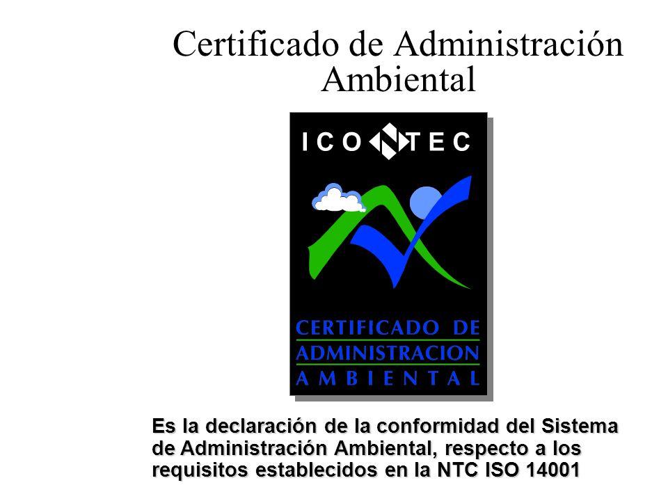 Certificado de Administración Ambiental