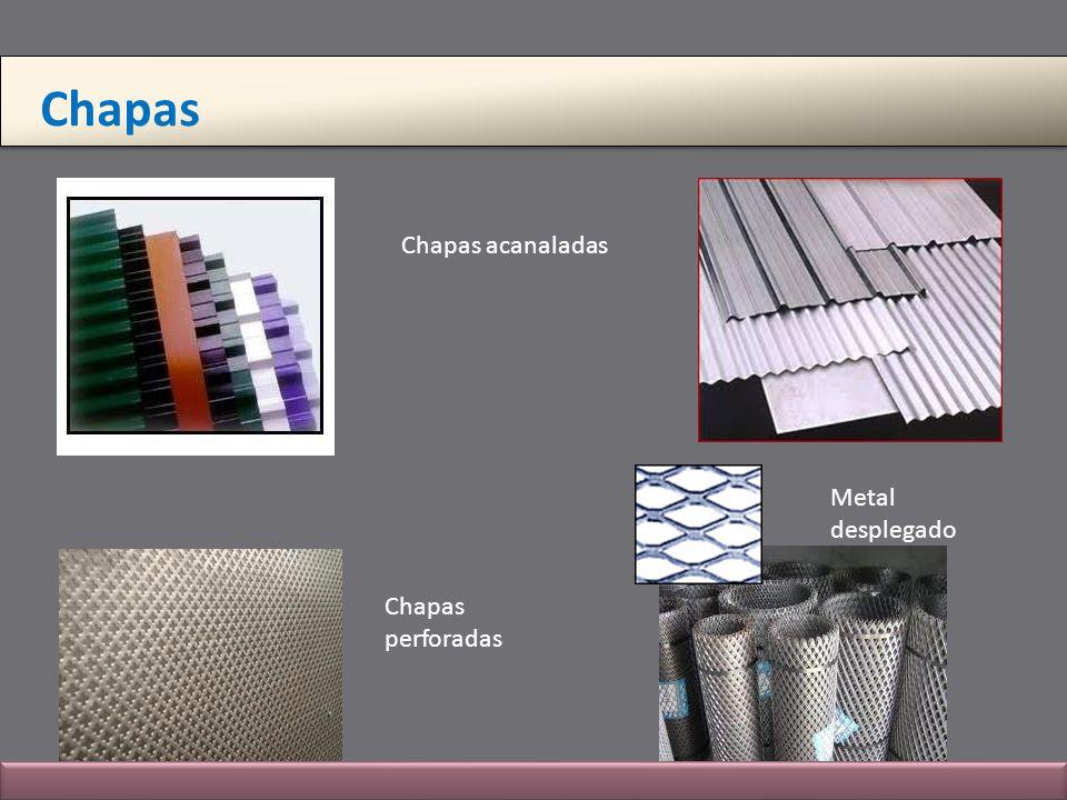 Chapas Chapas acanaladas Metal desplegado Chapas perforadas