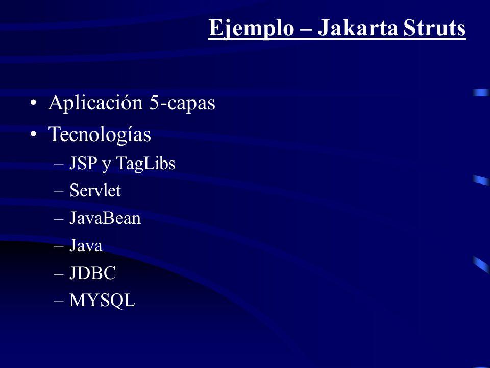 Ejemplo – Jakarta Struts
