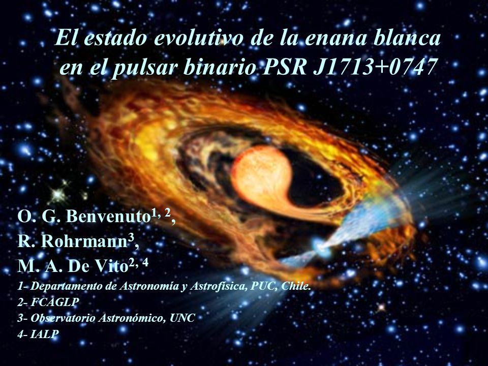 El estado evolutivo de la enana blanca en el pulsar binario PSR J1713+0747