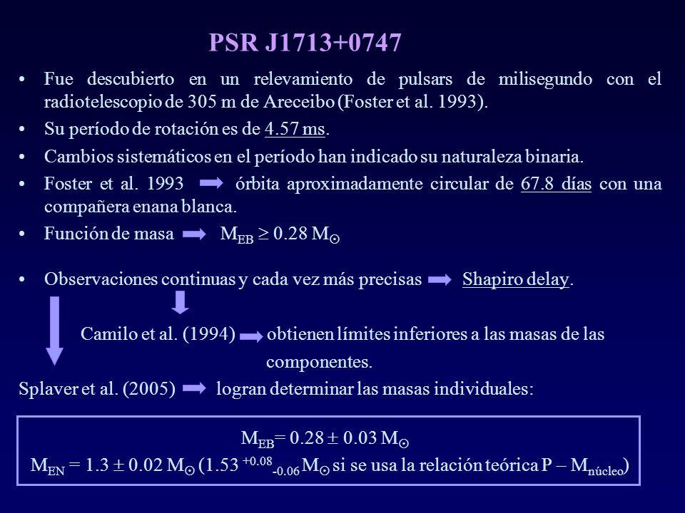 PSR J1713+0747 Fue descubierto en un relevamiento de pulsars de milisegundo con el radiotelescopio de 305 m de Areceibo (Foster et al. 1993).