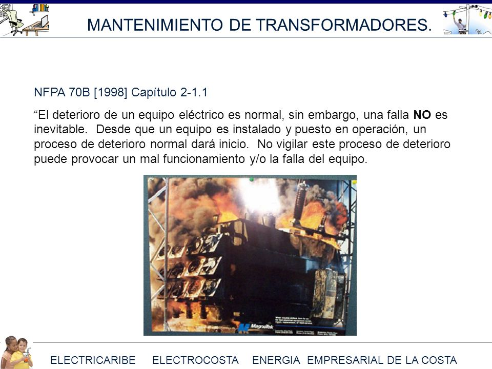 MANTENIMIENTO DE TRANSFORMADORES.