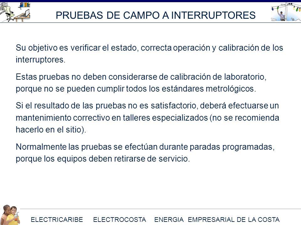 PRUEBAS DE CAMPO A INTERRUPTORES