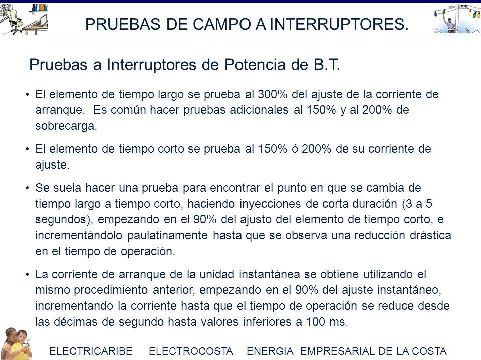 PRUEBAS DE CAMPO A INTERRUPTORES.