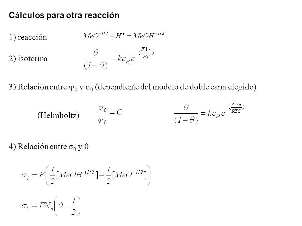 Cálculos para otra reacción