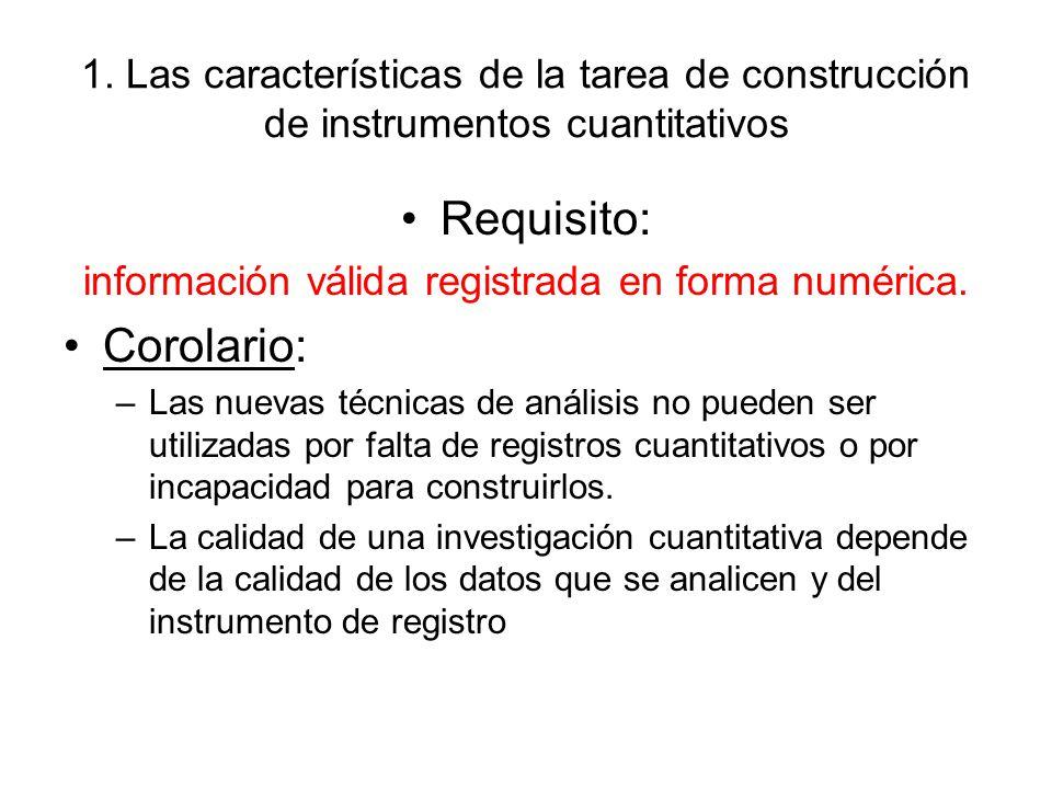 información válida registrada en forma numérica.