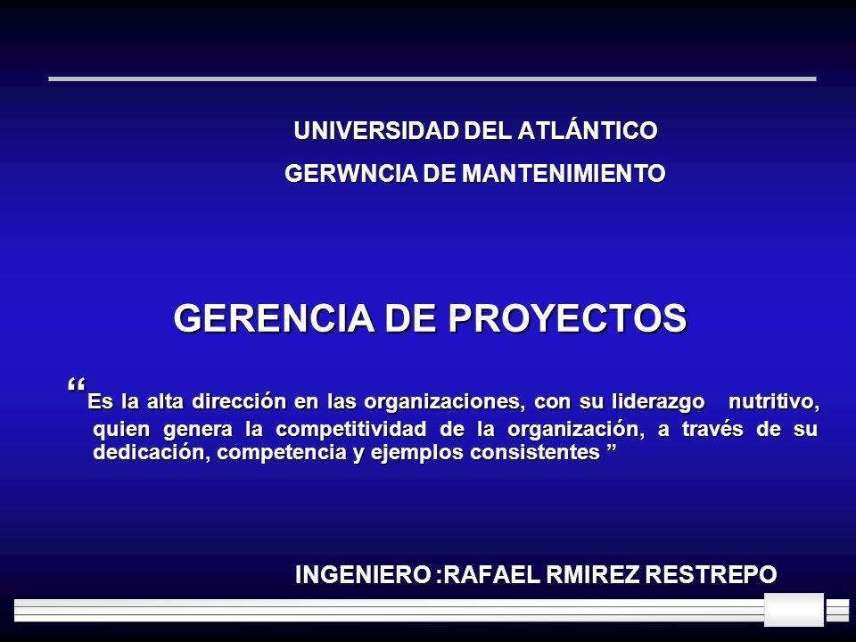 UNIVERSIDAD DEL ATLÁNTICO GERWNCIA DE MANTENIMIENTO