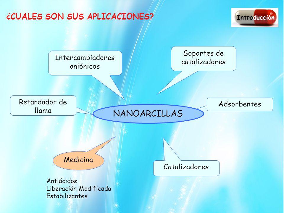 NANOARCILLAS ¿CUALES SON SUS APLICACIONES Soportes de catalizadores