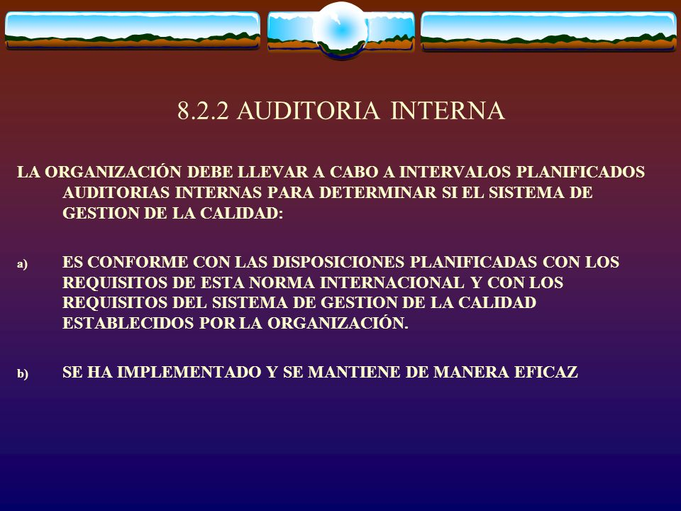 8.2.2 AUDITORIA INTERNA