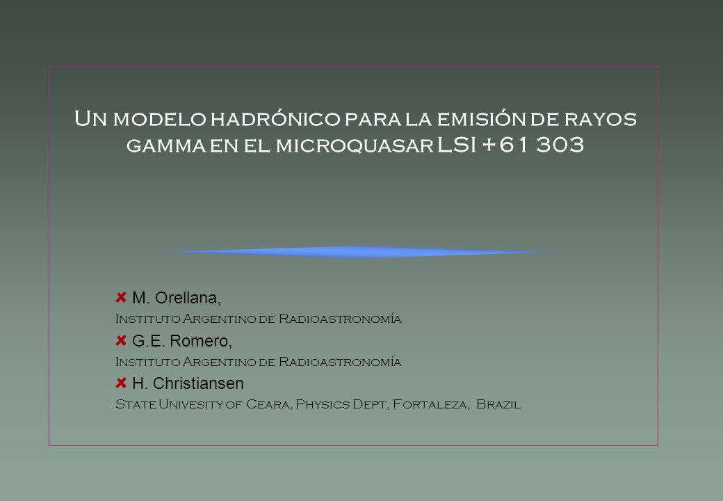 Un modelo hadrónico para la emisión de rayos gamma en el microquasar LSI +61 303