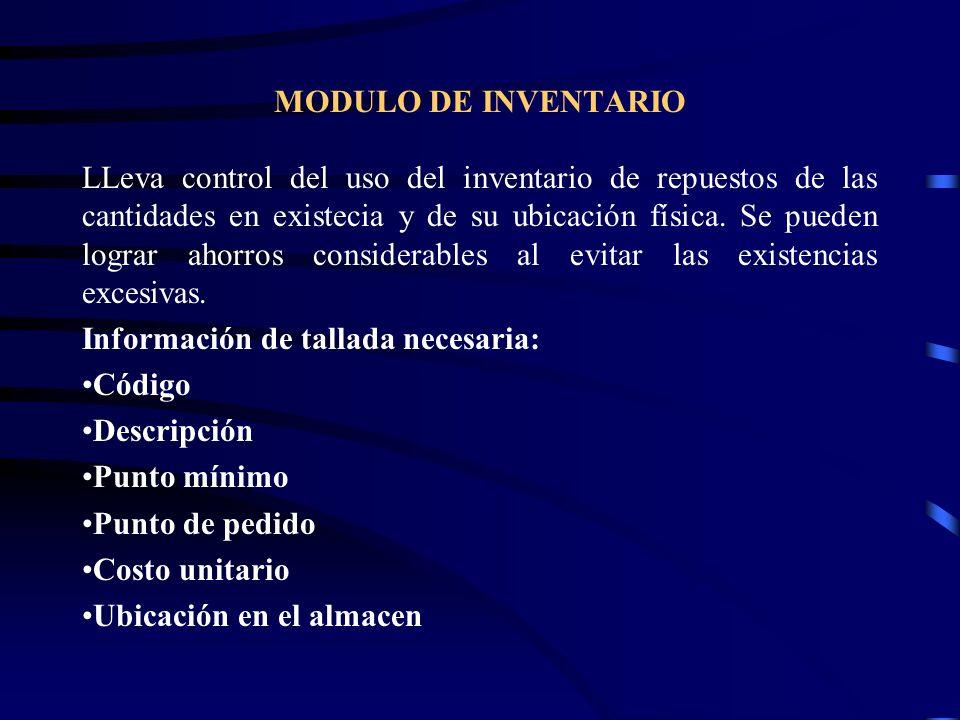 MODULO DE INVENTARIO