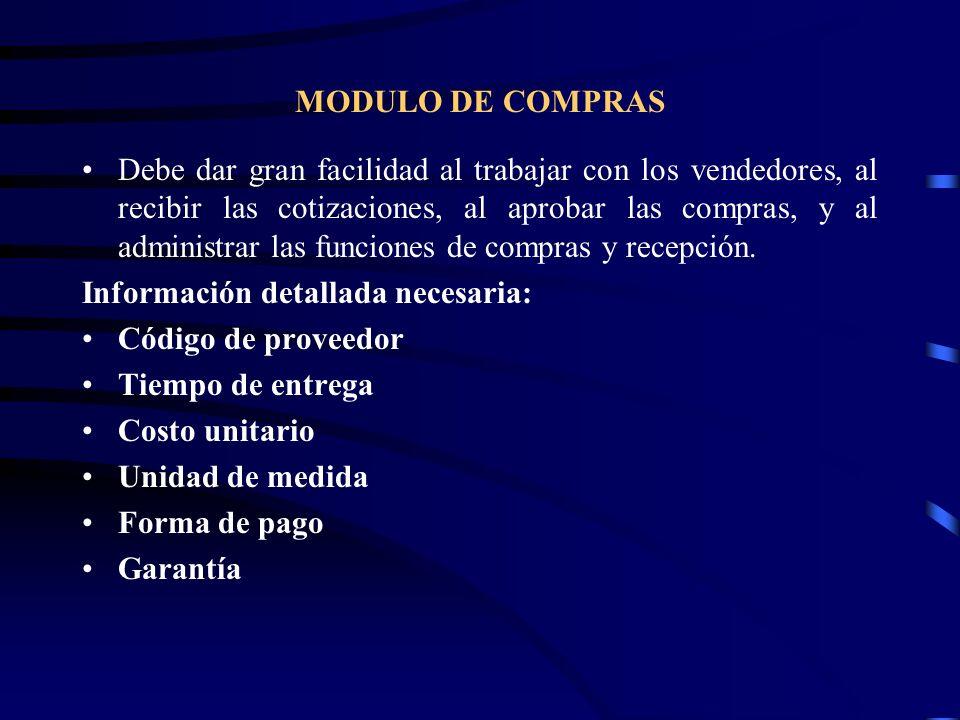MODULO DE COMPRAS