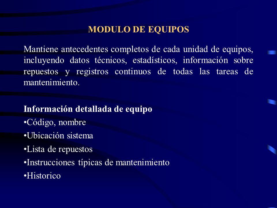 MODULO DE EQUIPOS