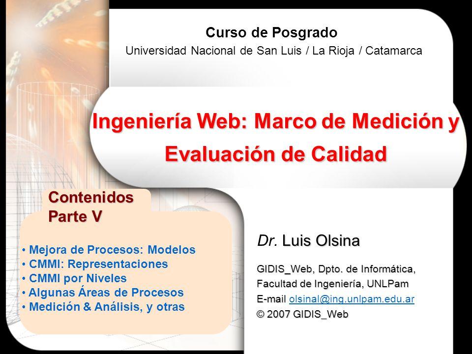 Ingeniería Web: Marco de Medición y Evaluación de Calidad - ppt ...