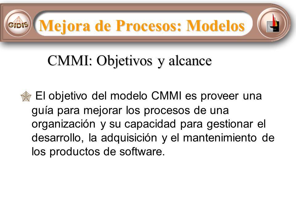 CMMI: Objetivos y alcance