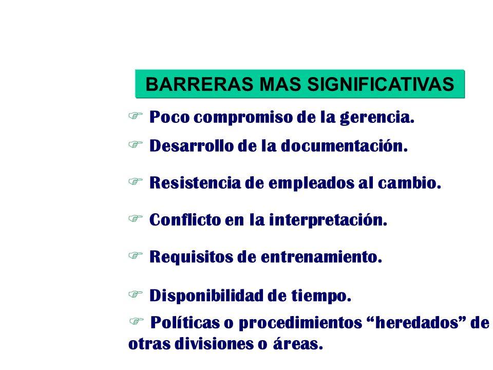 BARRERAS MAS SIGNIFICATIVAS