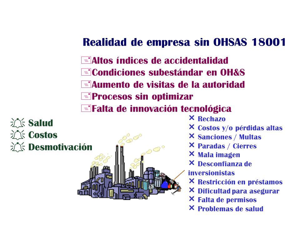Realidad de empresa sin OHSAS 18001