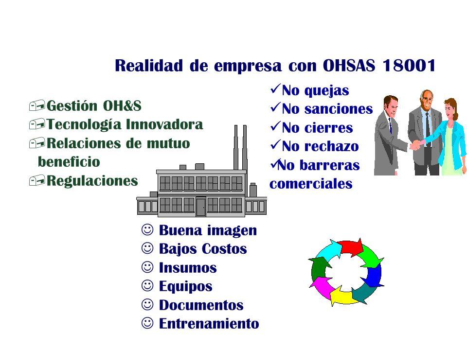 Realidad de empresa con OHSAS 18001