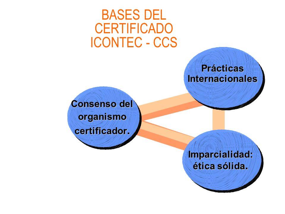BASES DEL CERTIFICADO ICONTEC - CCS
