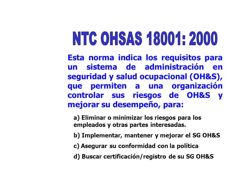NTC OHSAS 18001: 2000