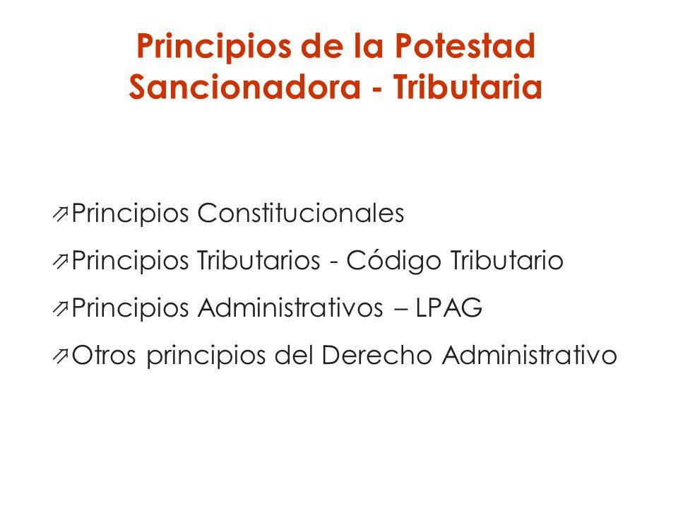 Principios de la Potestad Sancionadora - Tributaria
