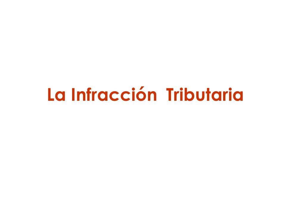 La Infracción Tributaria