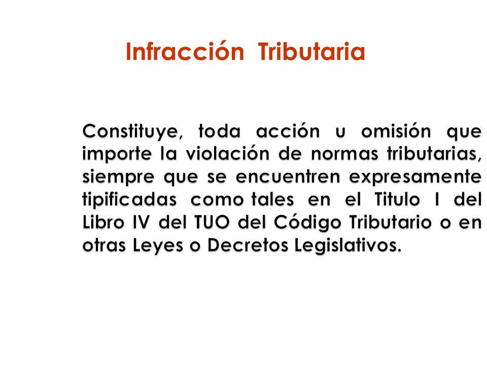 Infracción Tributaria