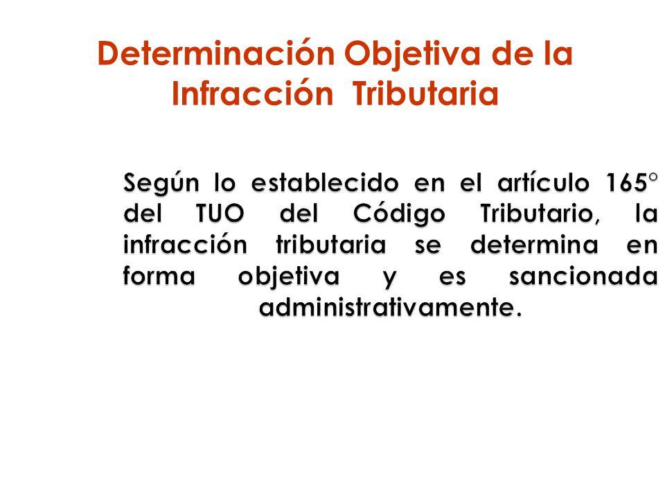 Determinación Objetiva de la Infracción Tributaria