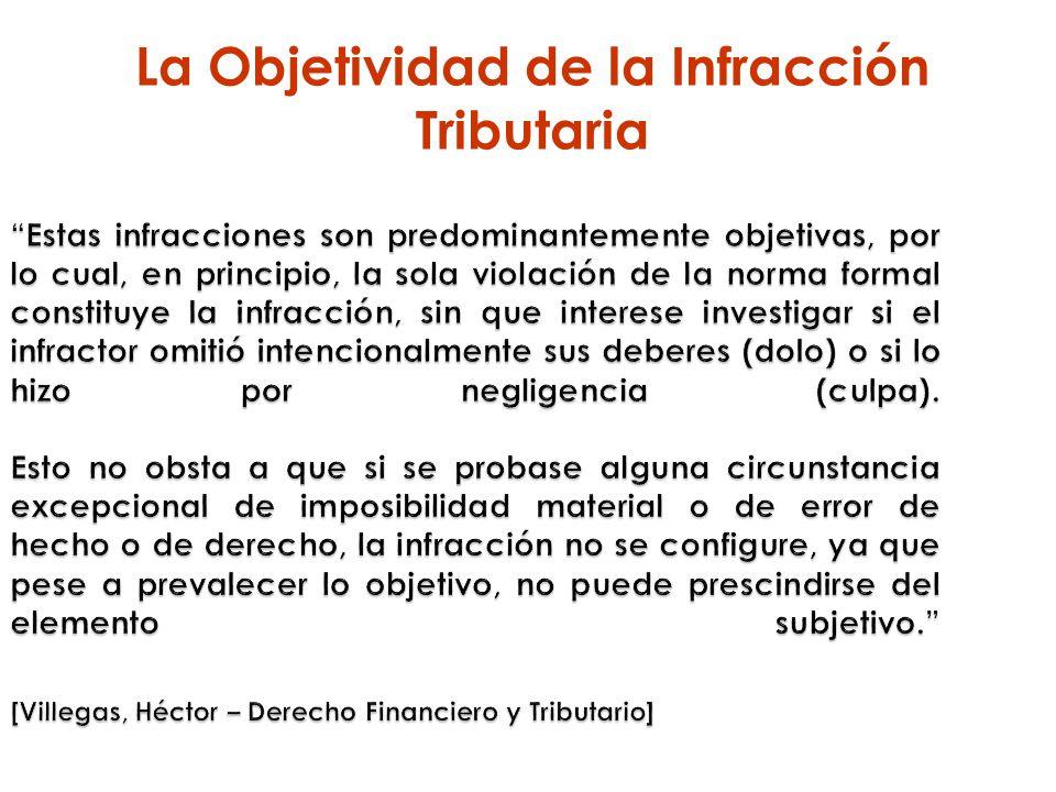 La Objetividad de la Infracción Tributaria