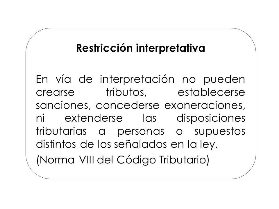Restricción interpretativa