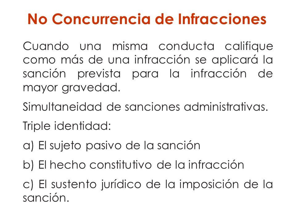 No Concurrencia de Infracciones