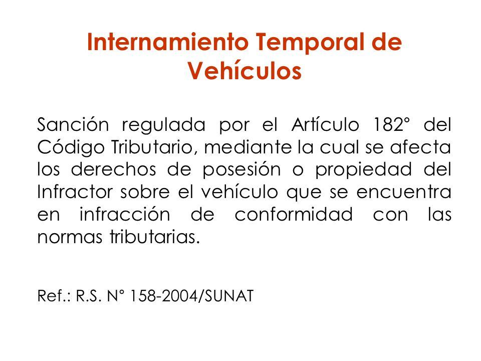 Internamiento Temporal de Vehículos