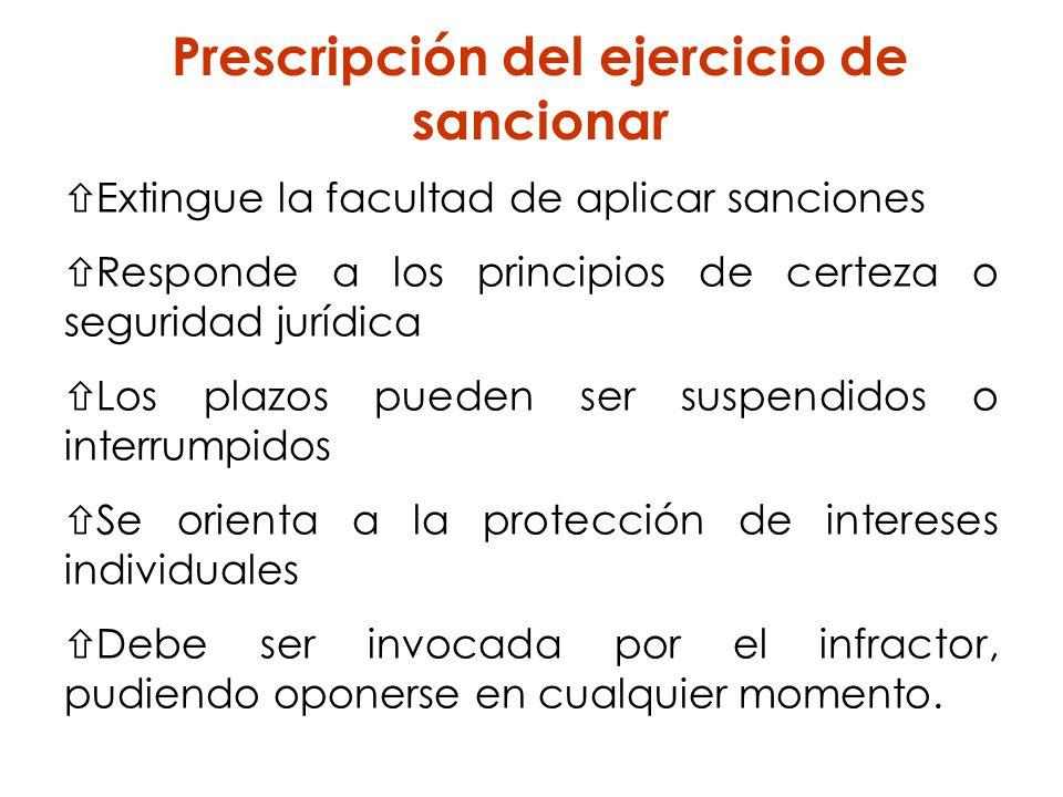 Prescripción del ejercicio de sancionar