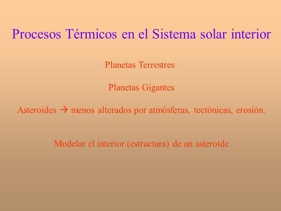 Procesos Térmicos en el Sistema solar interior