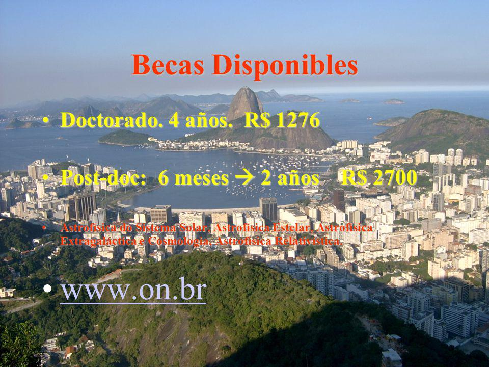 www.on.br Becas Disponibles Doctorado. 4 años. R$ 1276