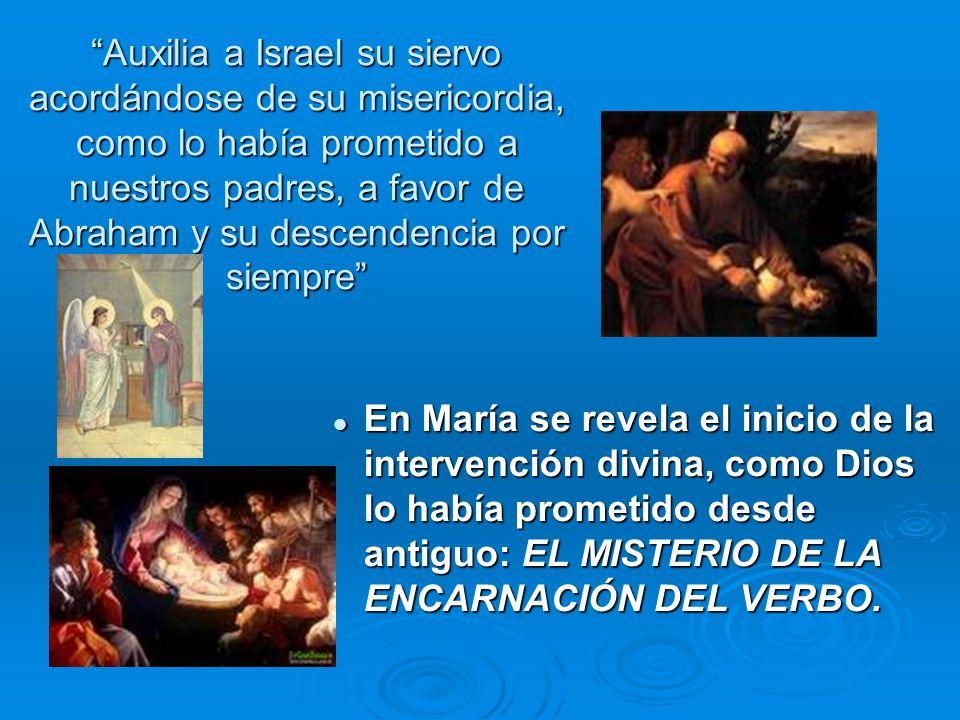 Auxilia a Israel su siervo acordándose de su misericordia, como lo había prometido a nuestros padres, a favor de Abraham y su descendencia por siempre