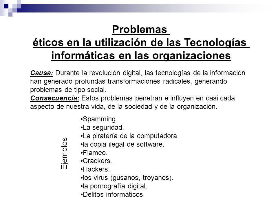 éticos en la utilización de las Tecnologías