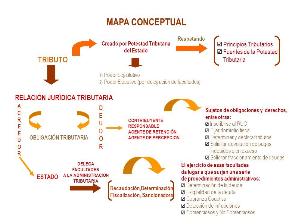 MAPA CONCEPTUAL RELACIÓN JURÍDICA TRIBUTARIA Principios Tributarios
