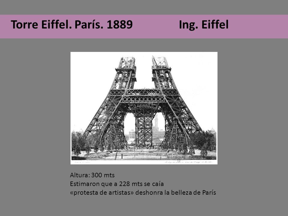 Torre Eiffel. París. 1889 Ing. Eiffel