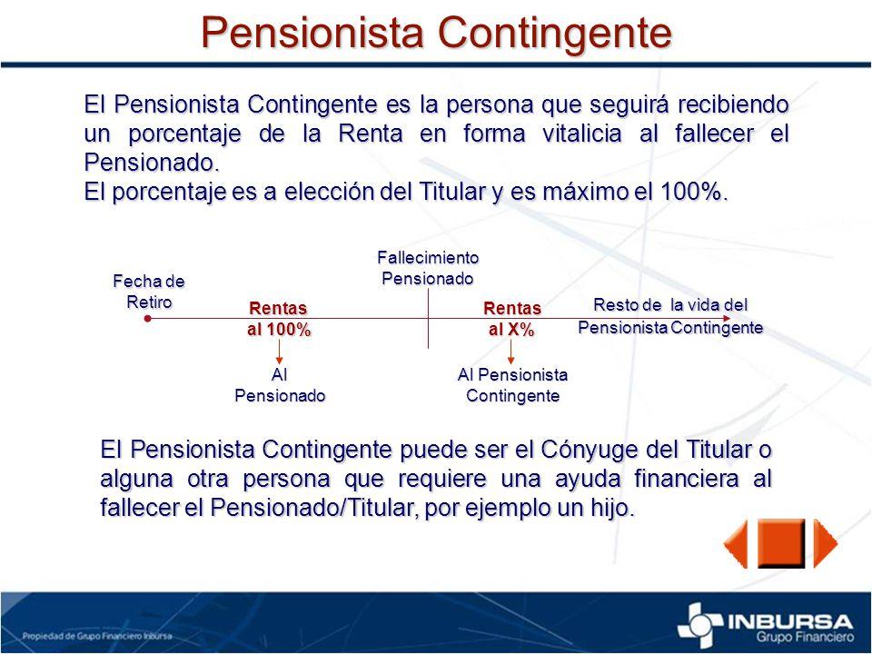 Pensionista Contingente