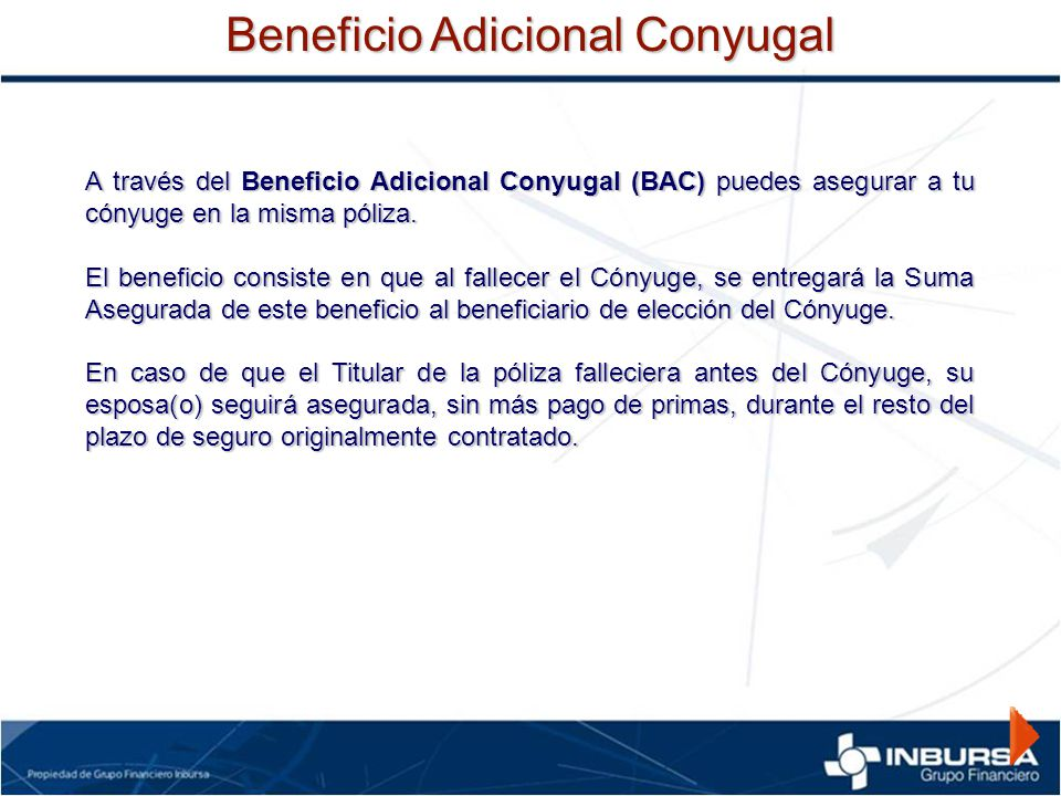 Beneficio Adicional Conyugal