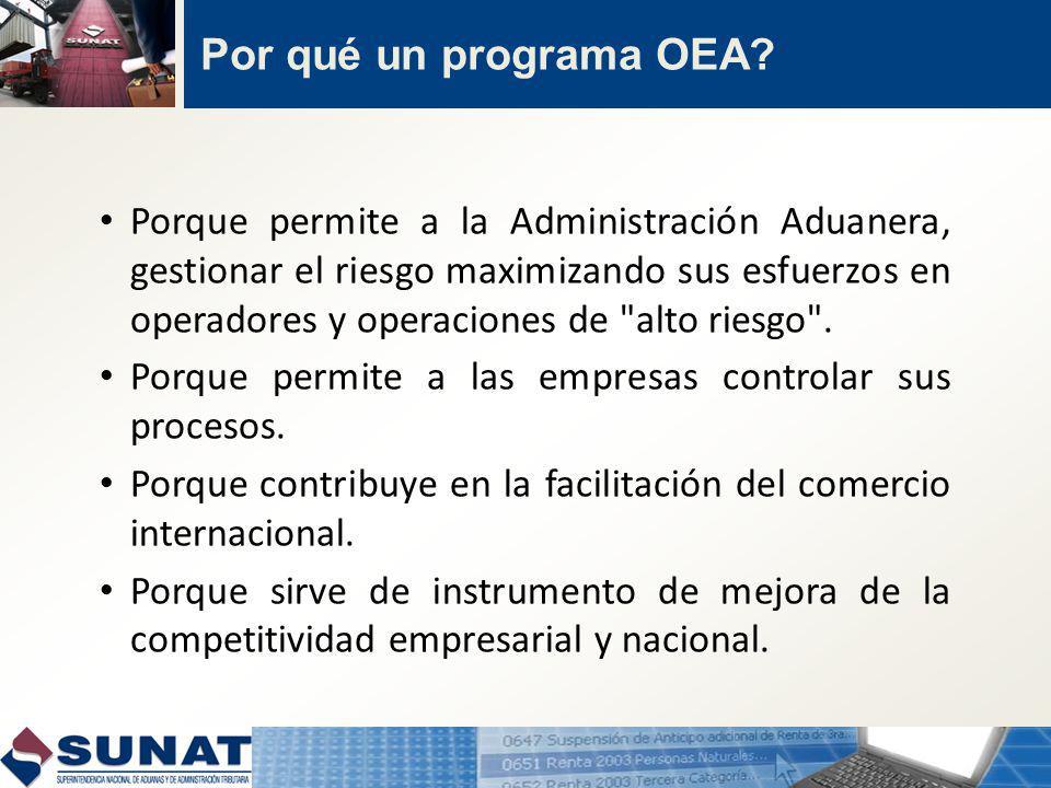 Por qué un programa OEA