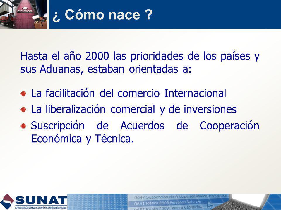 ¿ Cómo nace Hasta el año 2000 las prioridades de los países y sus Aduanas, estaban orientadas a: