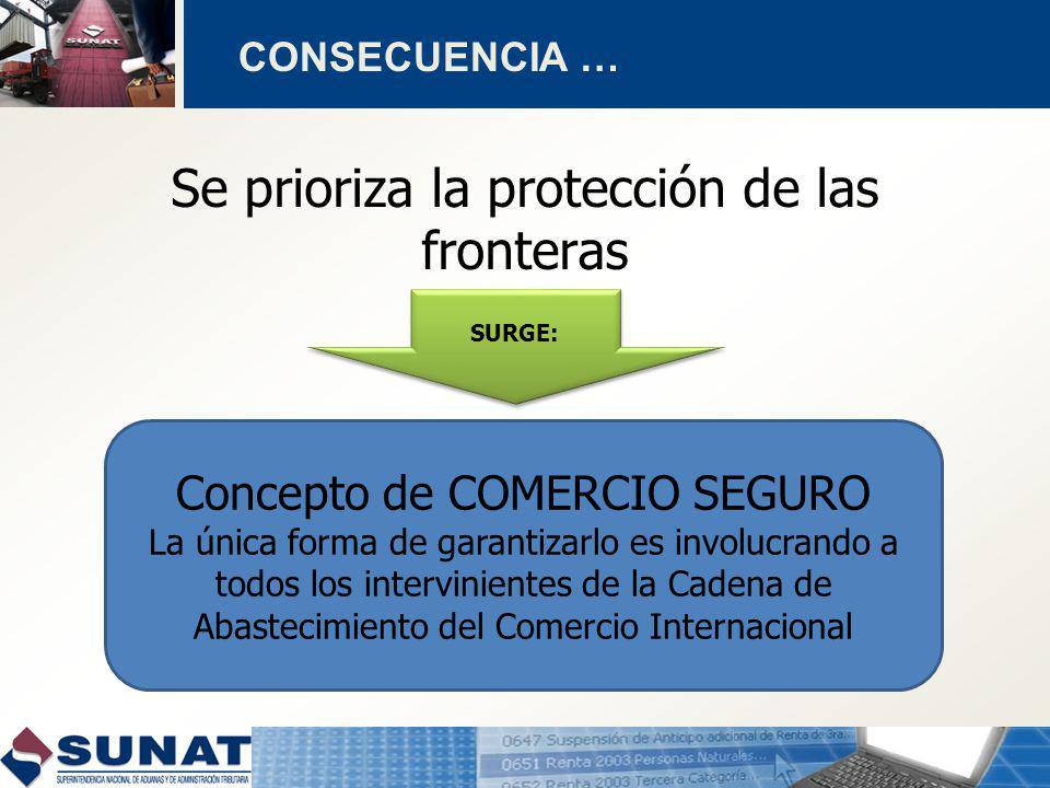 Se prioriza la protección de las fronteras